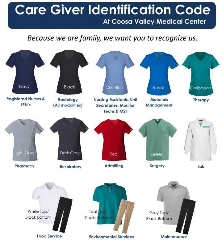 different types of nurses dress code