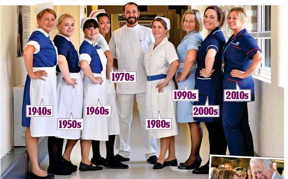 history of nursing uniform and caps