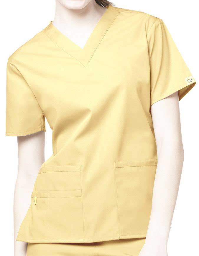 Yellow uniform for nurses