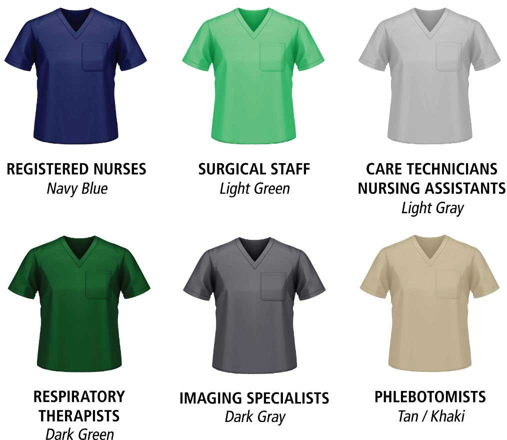 various nursing uniform