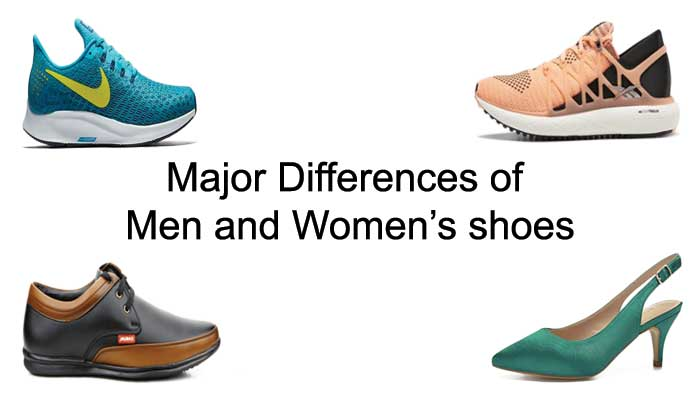 What is the major difference of men & women's shoes