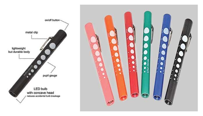 6 Disposable Penlights For ENT Emergency Medical