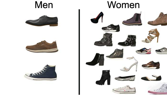 What types of men and women shoes?