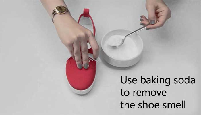 How to remove the smell with baking soda?