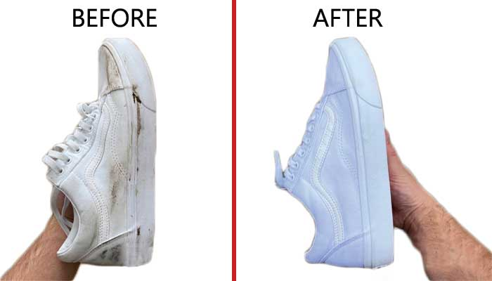 Why use baking soda to clean shoes?