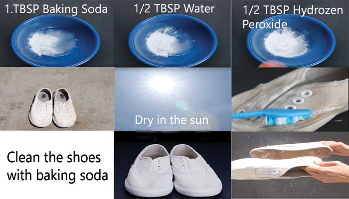 Ways to clean shoes using baking soda