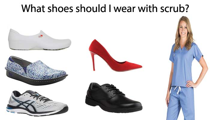 Which shoe is best with a scrub?