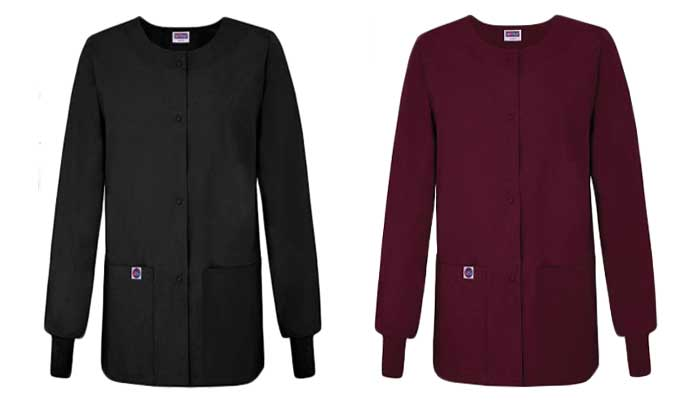 Sivvan Women's Scrubs Warm-Up Front Snap Jacket