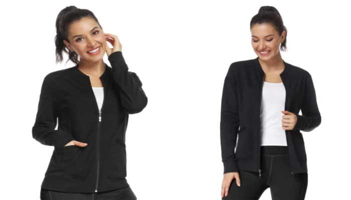 JEYONG Women's Zip Front Jacket