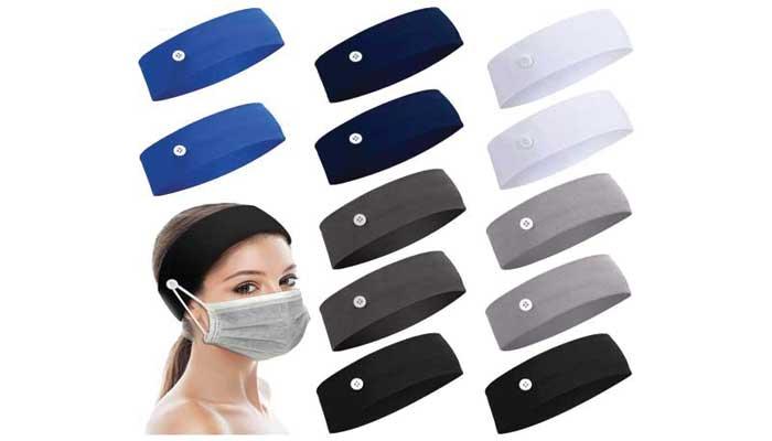 . Willbond Halloween Button Headband for Nurses